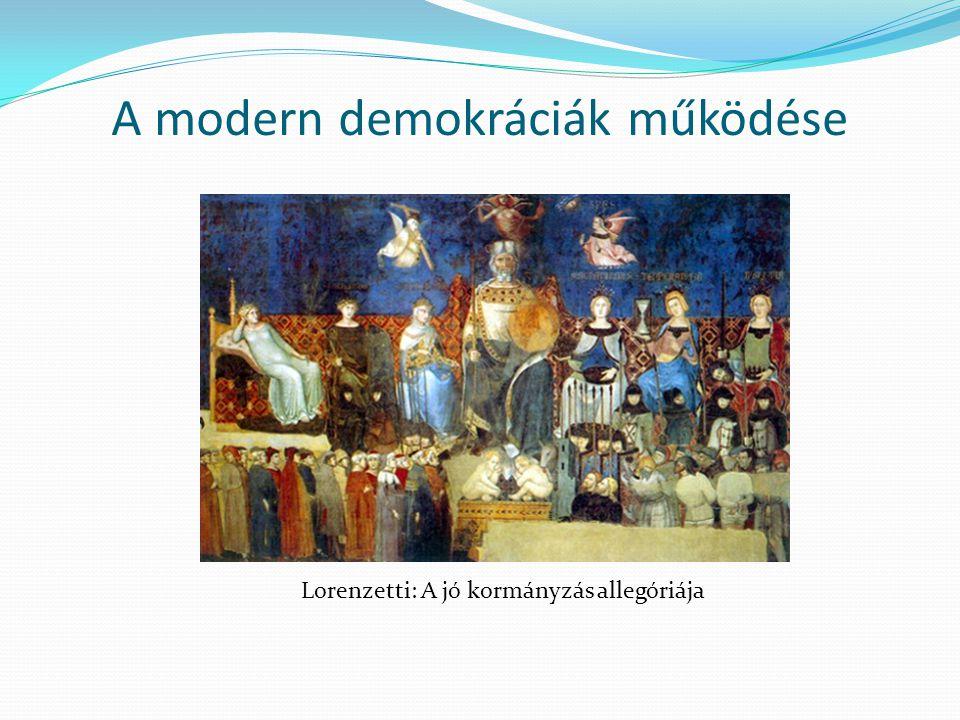 A modern demokráciák működése Lorenzetti: A jó kormányzás allegóriája