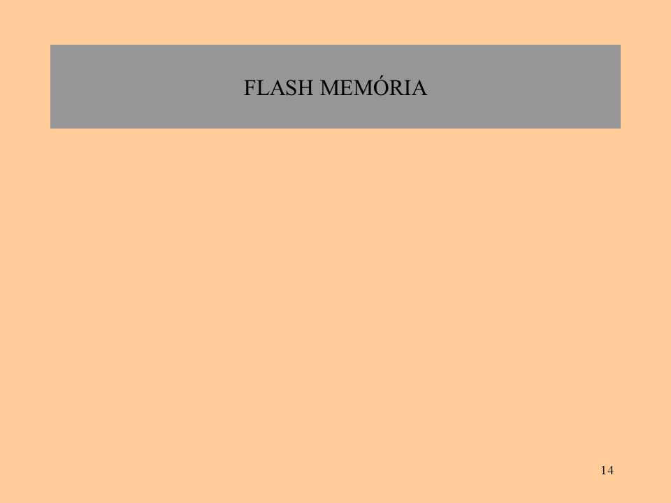 14 FLASH MEMÓRIA