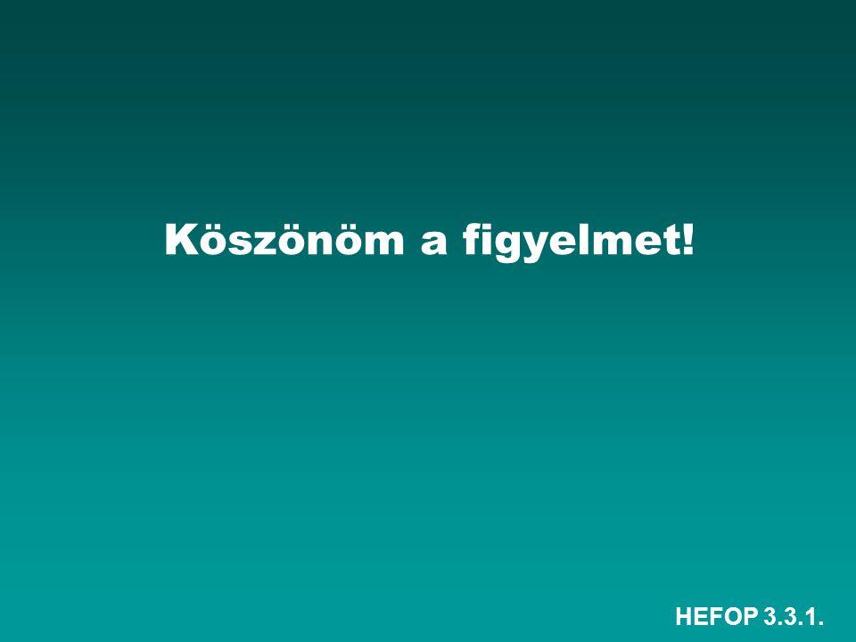 HEFOP 3.3.1. Köszönöm a figyelmet!