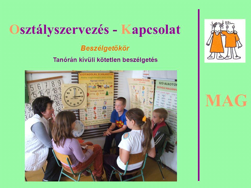 MAG Osztályszervezés - Kapcsolat Beszélgetőkör Tanórán kívüli kötetlen beszélgetés