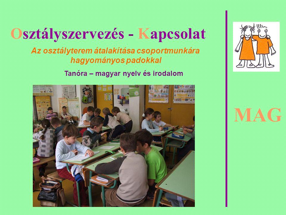 MAG Osztályszervezés - Kapcsolat Magatartásunk ezen a héten