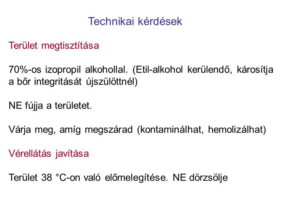 Technikai kérdések Terület megtisztítása 70%-os izopropil alkohollal.