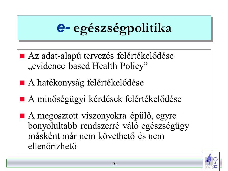 -4- 4 Az egészségügyi információs társadalom dimenziói  e- egészségpolitika  e- gyógyítás  e- egészség