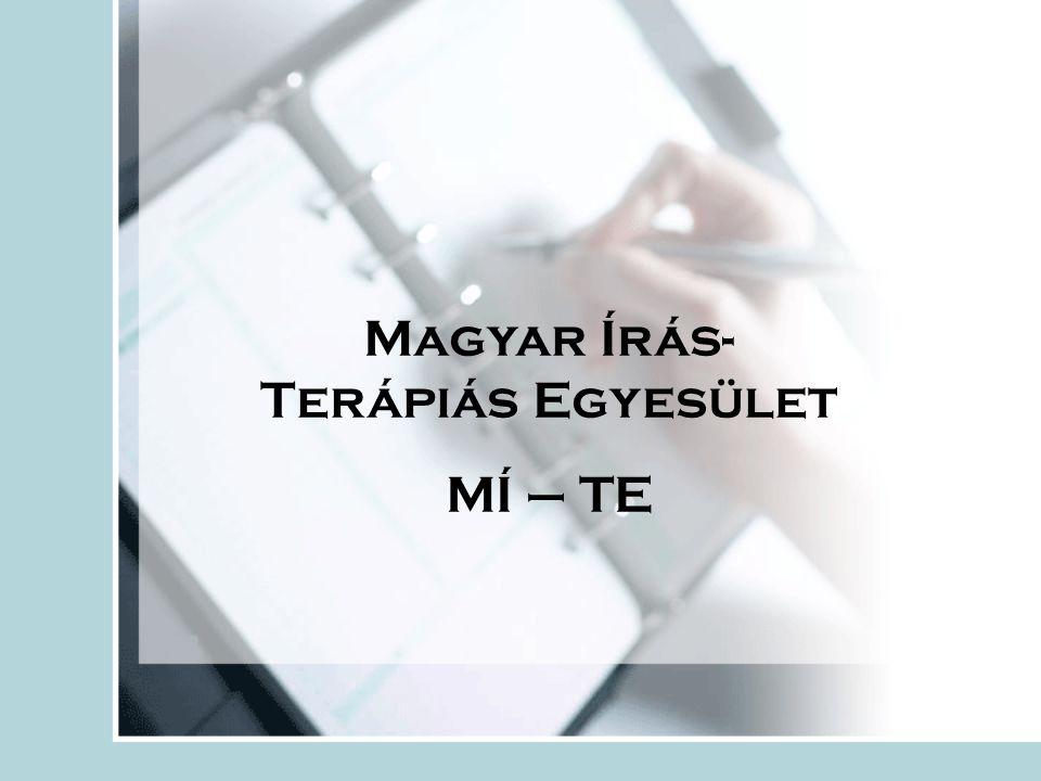 Magyar Írás- Terápiás Egyesület MÍ – TE