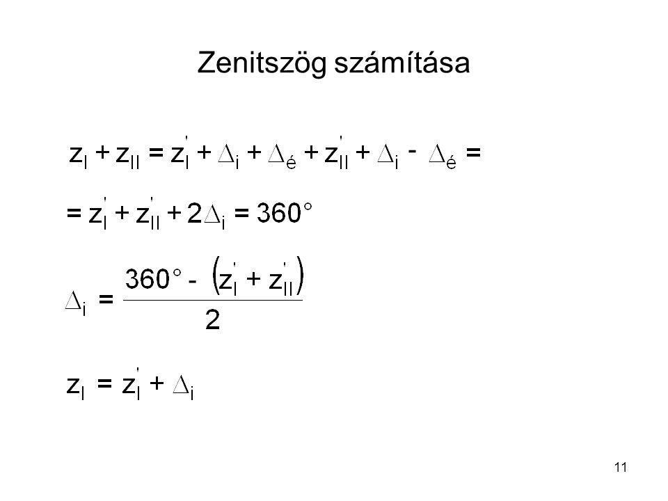 11 Zenitszög számítása - -
