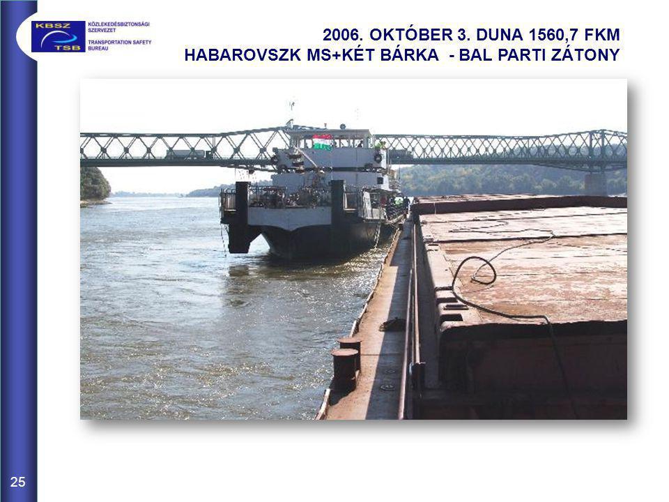 25 2006. OKTÓBER 3. DUNA 1560,7 FKM HABAROVSZK MS+KÉT BÁRKA - BAL PARTI ZÁTONY