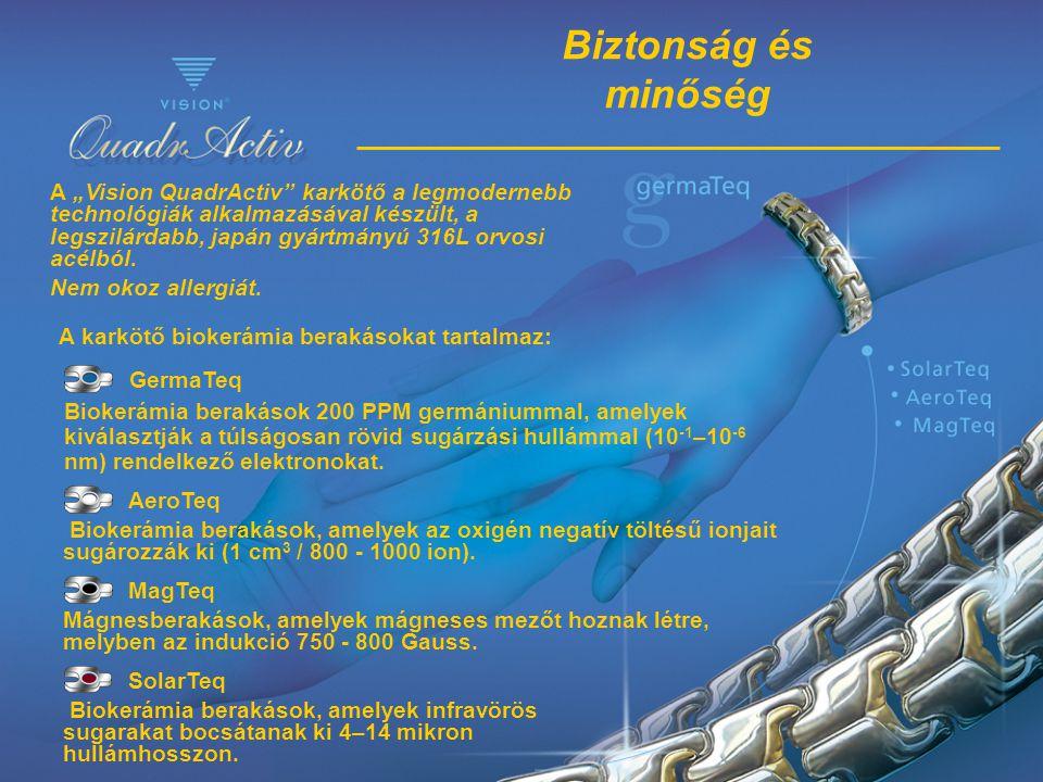 SolarTeq Biokerámia berakások, amelyek infravörös sugarakat bocsátanak ki 4–14 mikron hullámhosszon. MagTeq Mágnesberakások, amelyek mágneses mezőt ho