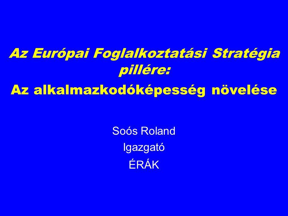 Az Európai Foglalkoztatási Stratégia pillére: Az alkalmazkodóképesség növelése Soós Roland Igazgató ÉRÁK