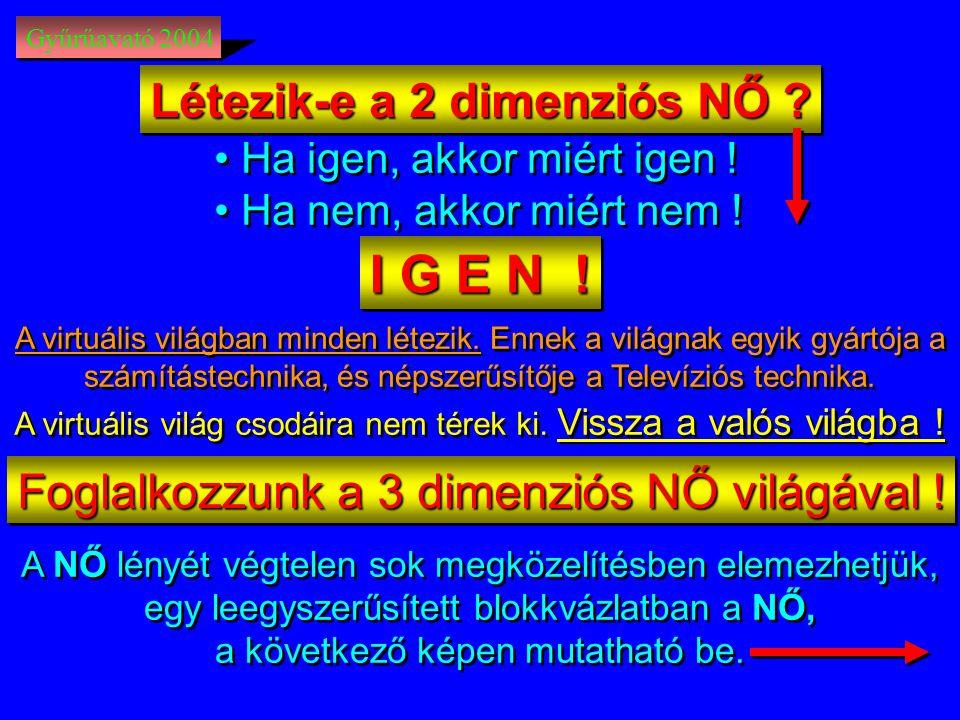 Gyűrűavató 2004 Létezik-e a 2 dimenziós NŐ .• Ha igen, akkor miért igen .