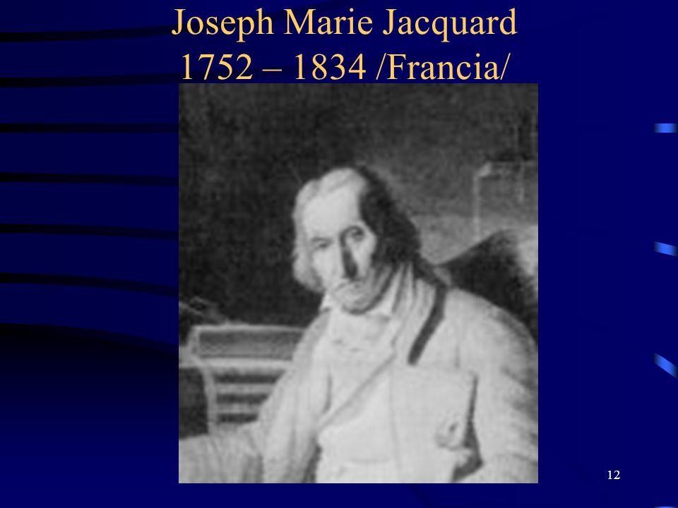 12 Joseph Marie Jacquard 1752 – 1834 /Francia/
