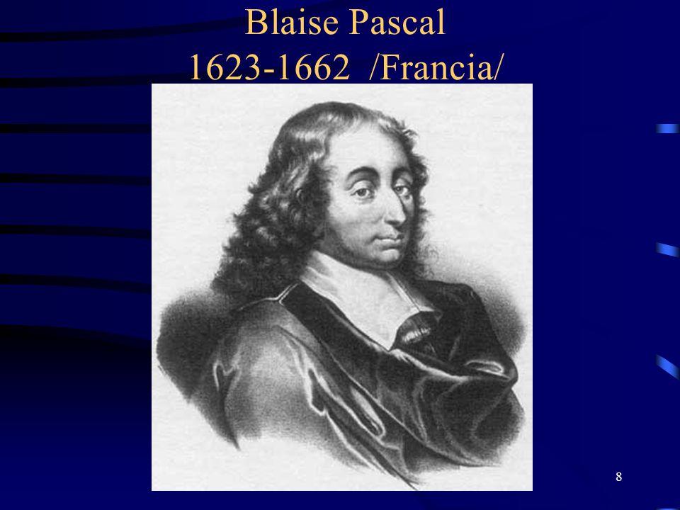 8 Blaise Pascal 1623-1662 /Francia/