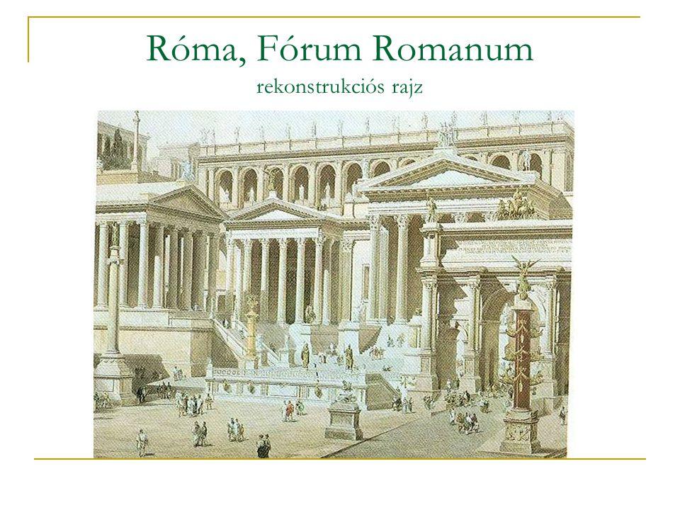 Róma, Fórum Romanum rekonstrukciós rajz