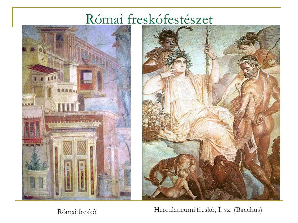 Római freskófestészet Herculaneumi freskó, I. sz. (Bacchus) Római freskó