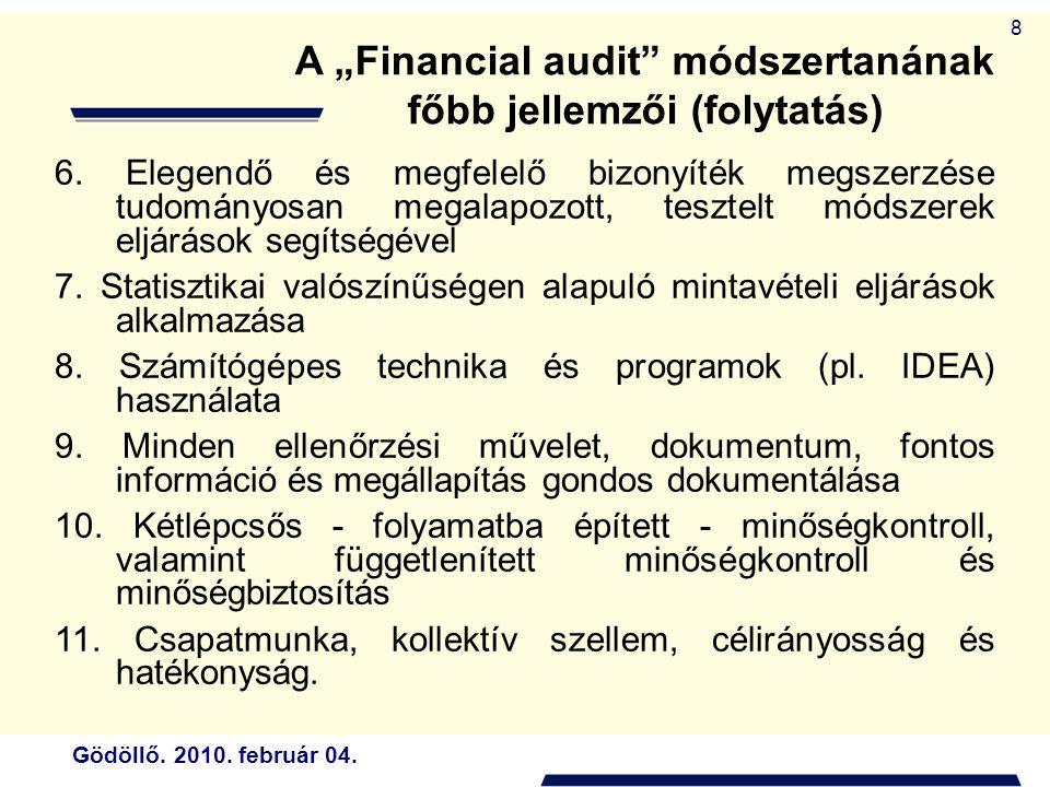 Gödöllő.2010. február 04. 49 21. A költségvetési szerv elkészíti elemi költségvetését.