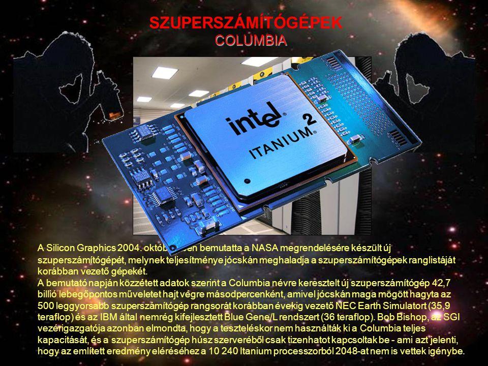 A Silicon Graphics 2004. októberében bemutatta a NASA megrendelésére készült új szuperszámítógépét, melynek teljesítménye jócskán meghaladja a szupers