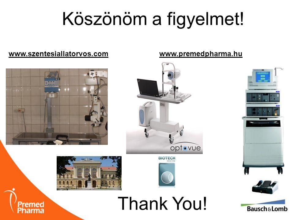 Köszönöm a figyelmet! www.premedpharma.hu Thank You! www.szentesiallatorvos.com