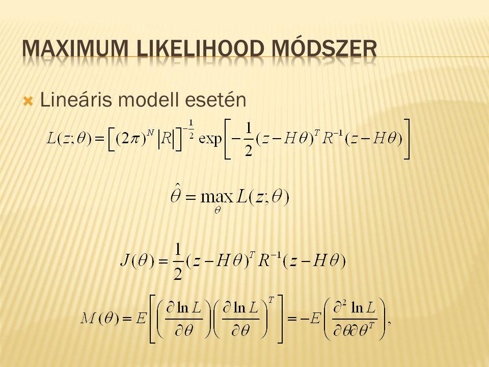  Lineáris modell esetén
