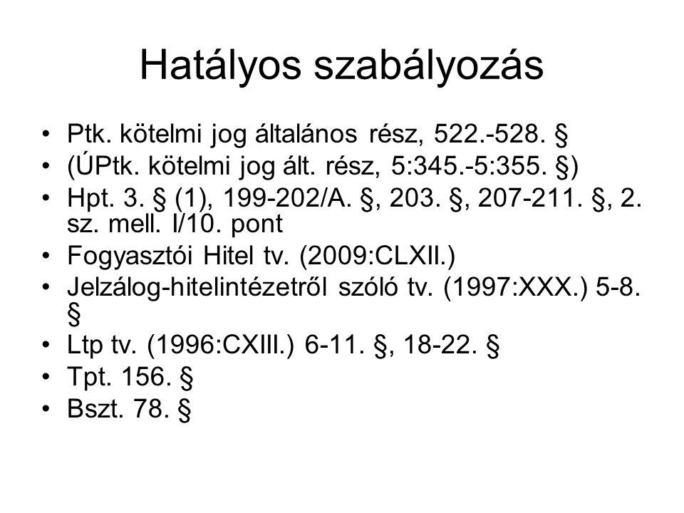 Hatályos szabályozás (2) •361/2009.(XII. 30.) Korm.
