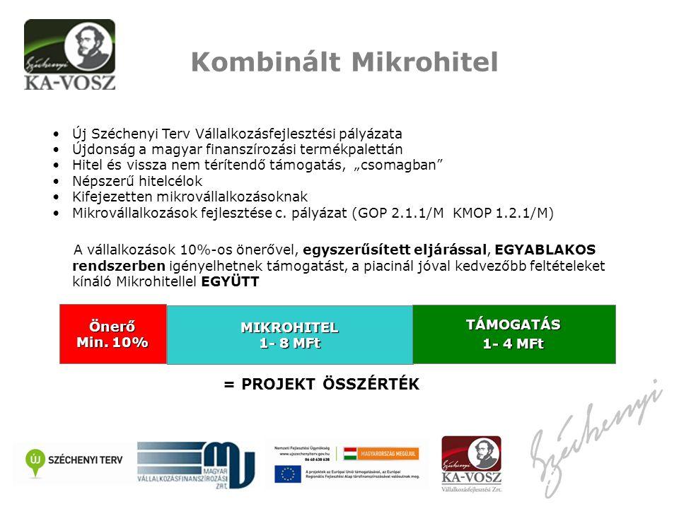 """•Új Széchenyi Terv Vállalkozásfejlesztési pályázata •Újdonság a magyar finanszírozási termékpalettán •Hitel és vissza nem térítendő támogatás, """"csomagban •Népszerű hitelcélok •Kifejezetten mikrovállalkozásoknak •Mikrovállalkozások fejlesztése c."""