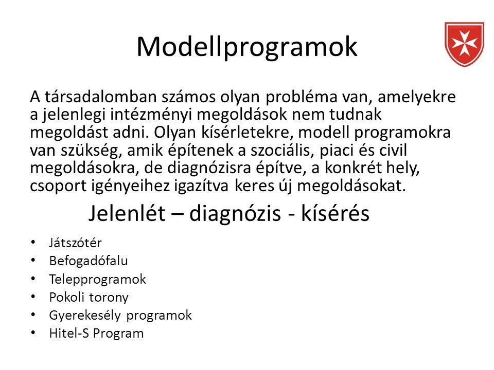 Modellprogramok A társadalomban számos olyan probléma van, amelyekre a jelenlegi intézményi megoldások nem tudnak megoldást adni. Olyan kísérletekre,