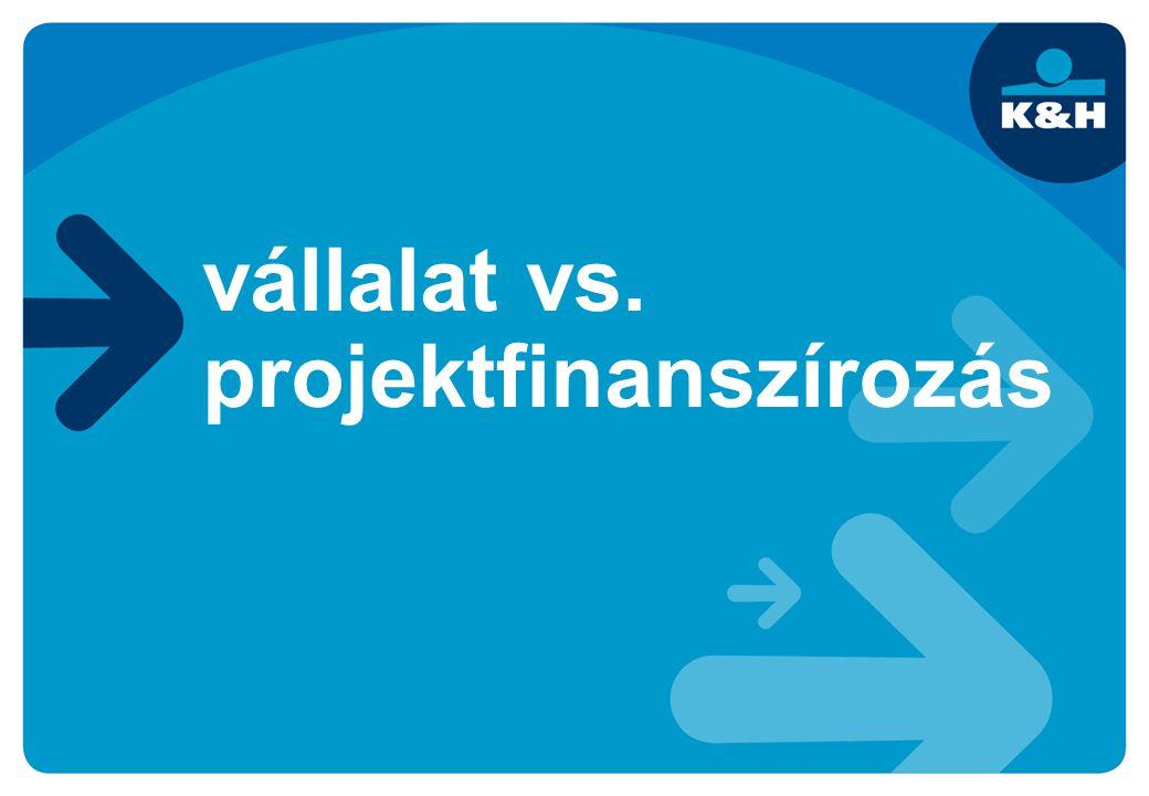 vállalat vs. projektfinanszírozás