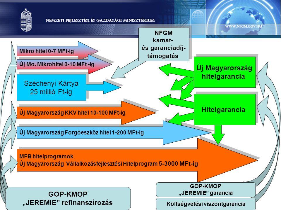 Mikro hitel 0-7 MFt-ig Új Mo. Mikrohitel 0-10 MFt -ig MFB hitelprogramok Új Magyarország Vállalkozásfejlesztési Hitelprogram 5-3000 MFt-ig MFB hitelpr