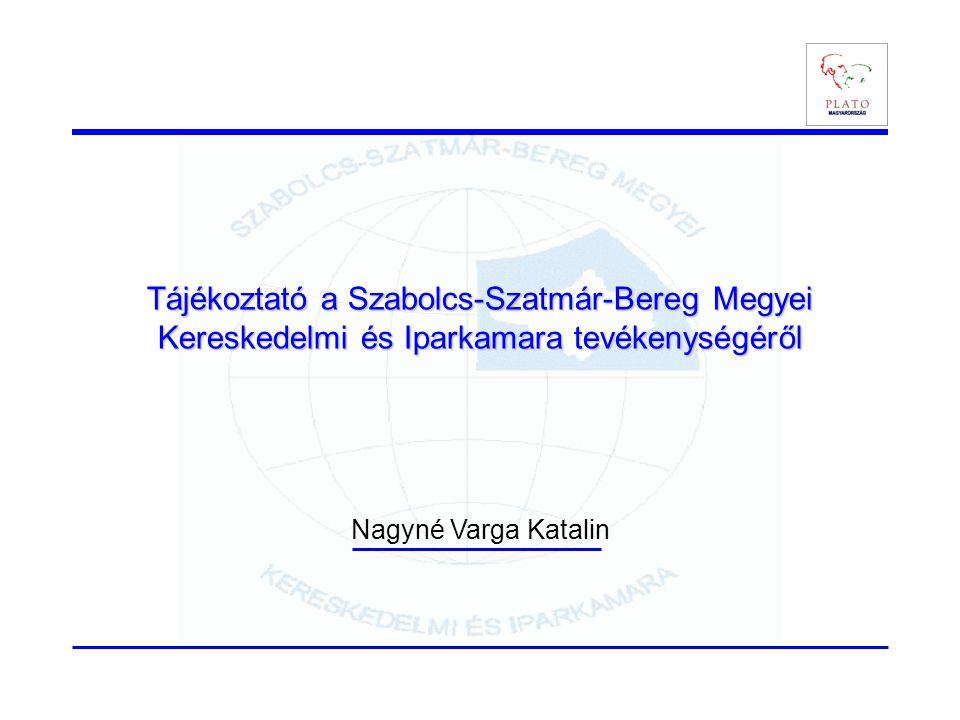 Tájékoztató a Szabolcs-Szatmár-Bereg Megyei Kereskedelmi és Iparkamara tevékenységéről Nagyné Varga Katalin