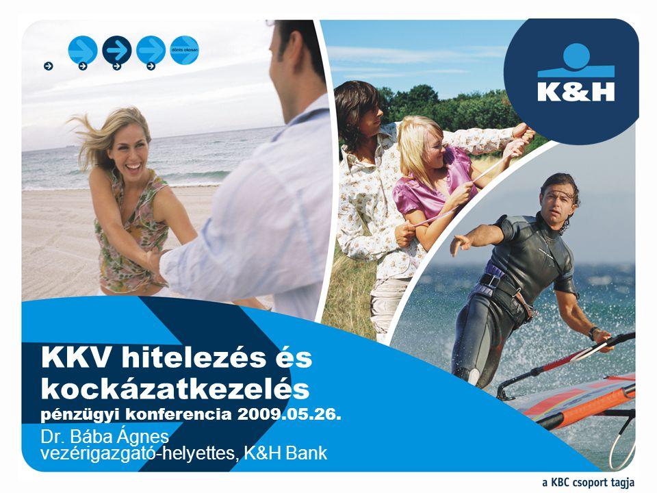 Dr. Bába Ágnes vezérigazgató-helyettes, K&H Bank KKV hitelezés és kockázatkezelés pénzügyi konferencia 2009.05.26.