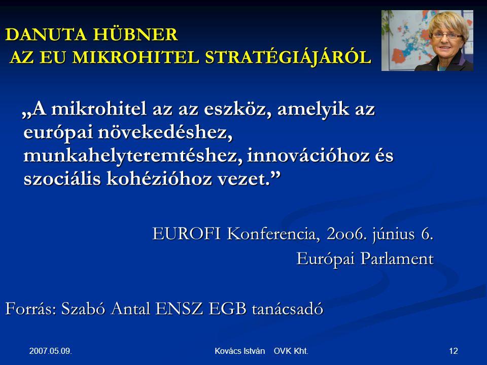 2007.05.09. 12 Kovács István OVK Kht.