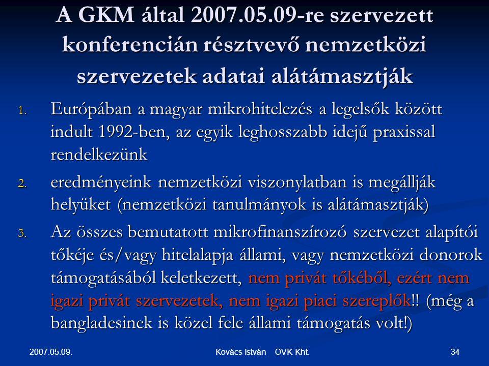 2007.05.09. 34 Kovács István OVK Kht.