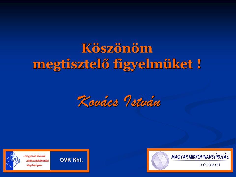 Köszönöm megtisztelő figyelmüket ! Kovács István OVK Kht. OVK Kht.