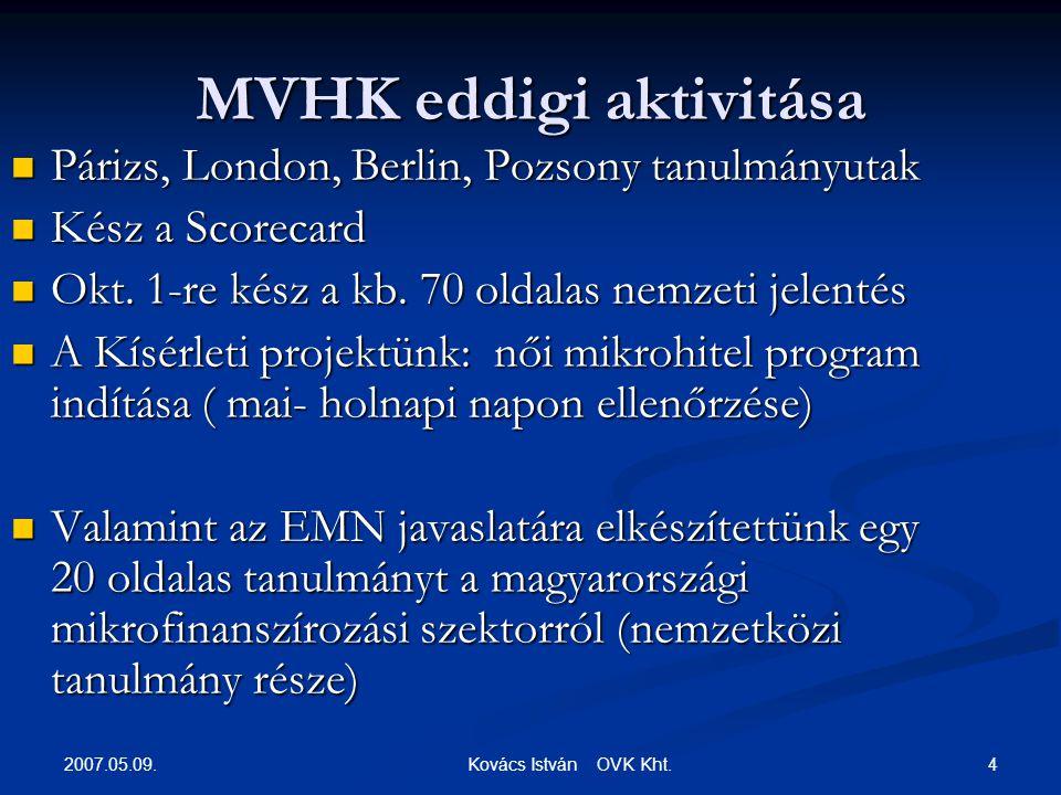 2007.05.09. 4 Kovács István OVK Kht.