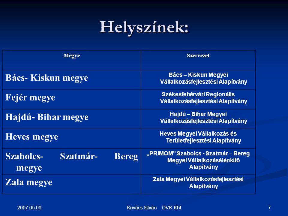 2007.05.09. 7 Kovács István OVK Kht.