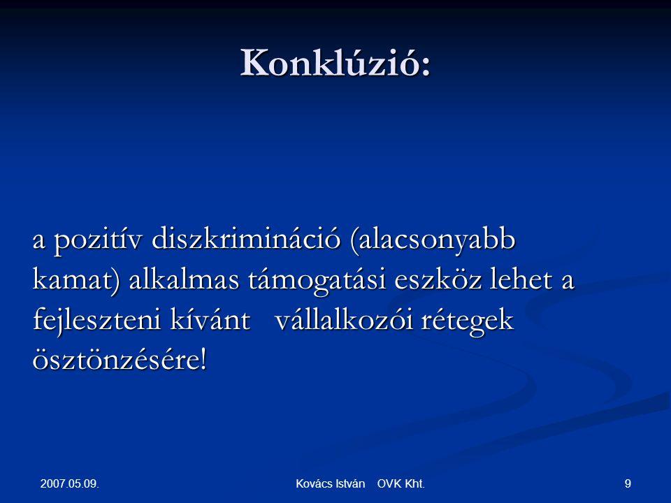 2007.05.09. 9 Kovács István OVK Kht.