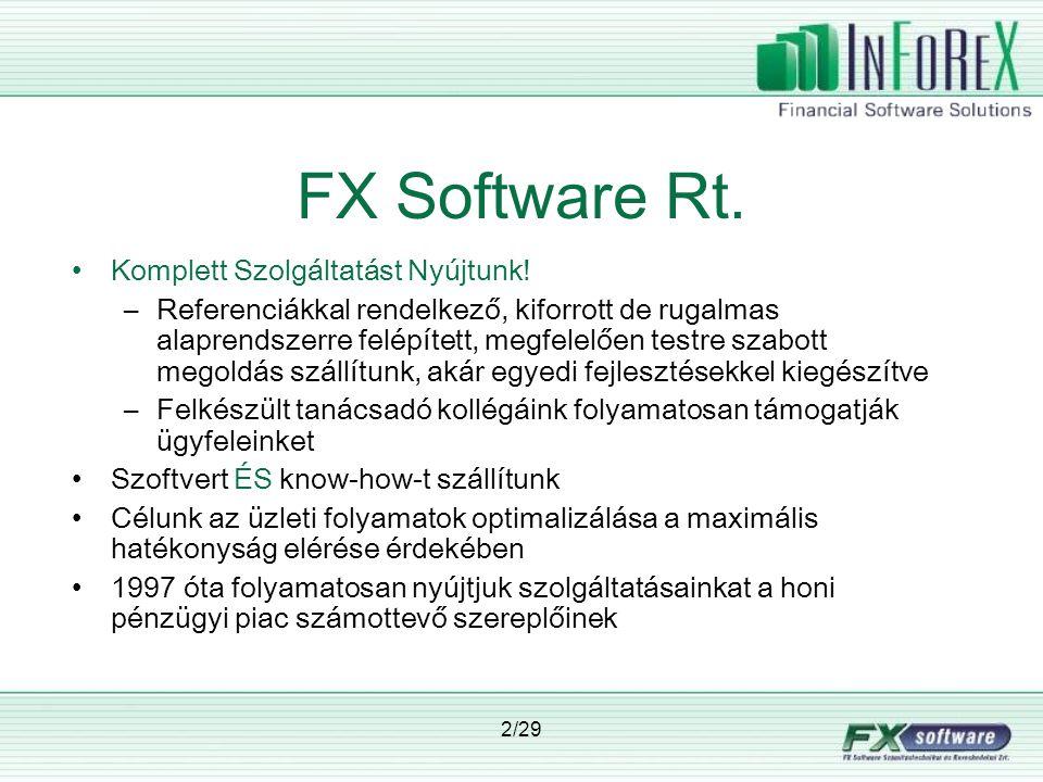 3/29 InFoReX ≠ csak Treasury.InFoReX = Integrált Pénzintézeti Megoldások.
