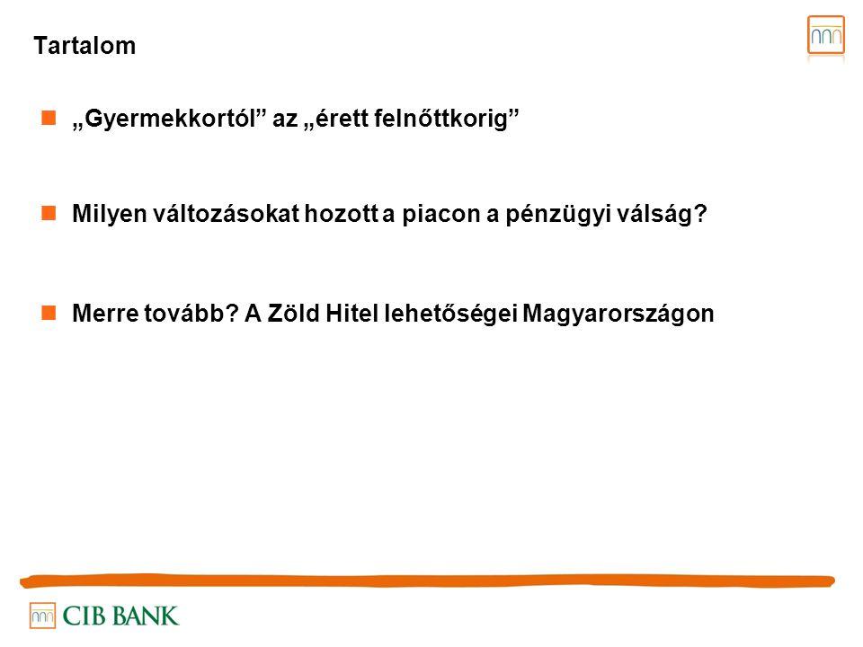 """A """"gyermekkortól az """"érett felnőttkorig - a magyarországi jelzáloghitel piac fejlődése 2001."""
