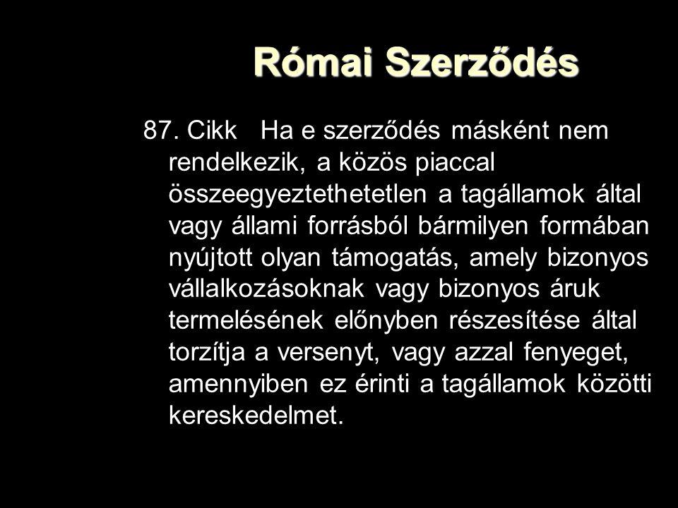 Római Szerződés 87.