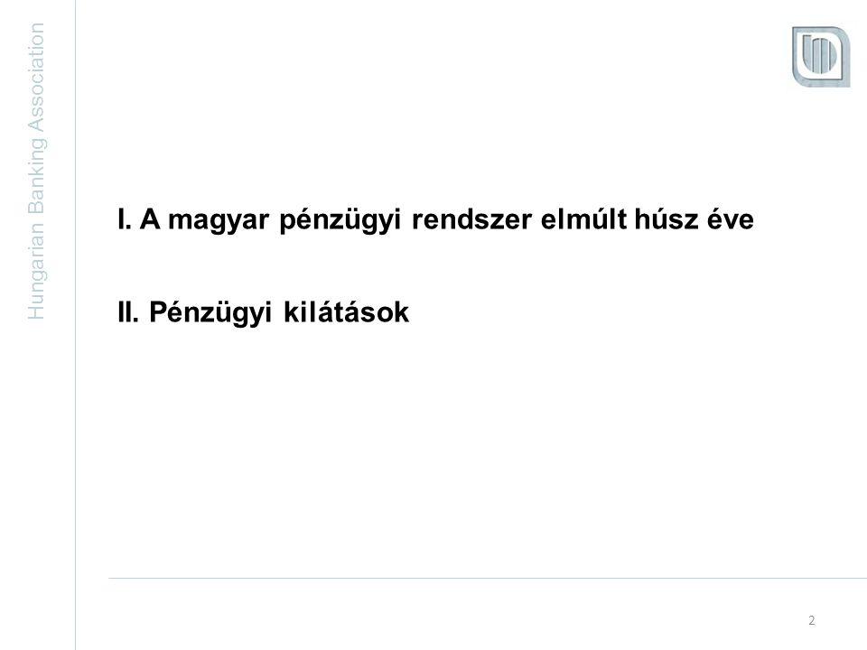 Hungarian Banking Association I. A magyar pénzügyi rendszer elmúlt 20 éve 3
