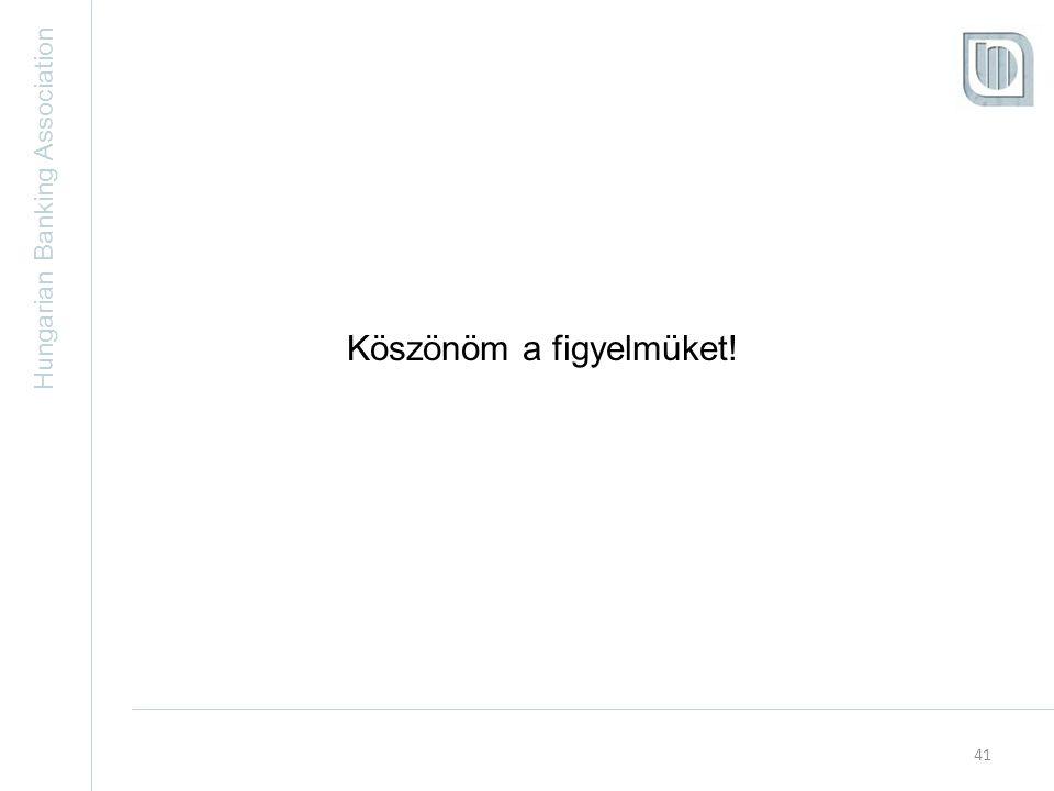 Hungarian Banking Association 41 Köszönöm a figyelmüket!