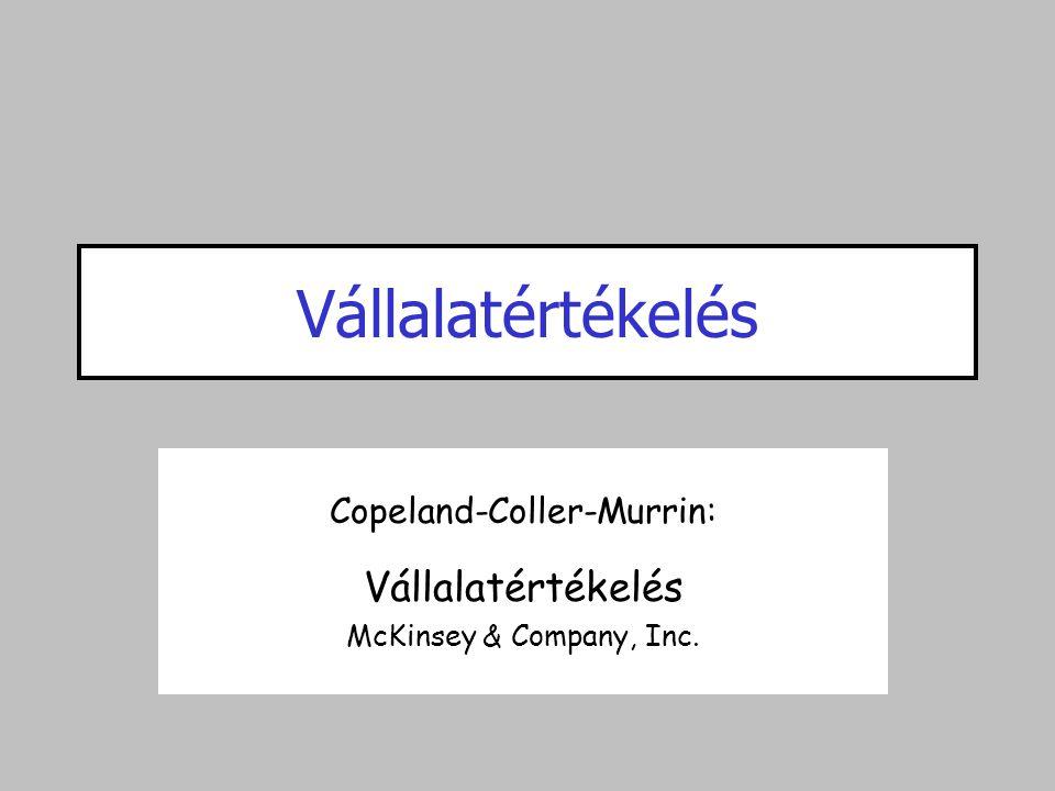 Vállalatértékelés Copeland-Coller-Murrin: Vállalatértékelés McKinsey & Company, Inc.