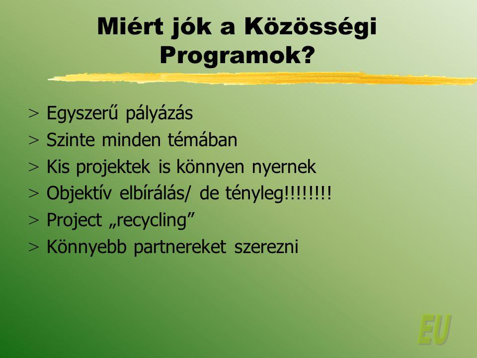 Miért jók a Közösségi Programok.