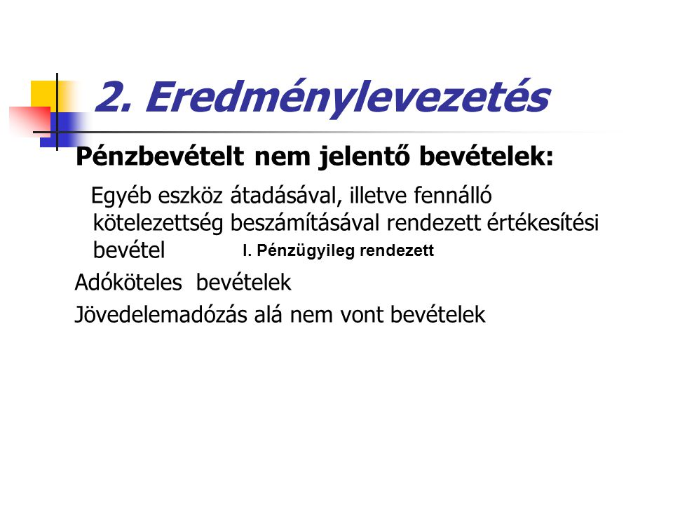 2.Eredménylevezetés B.