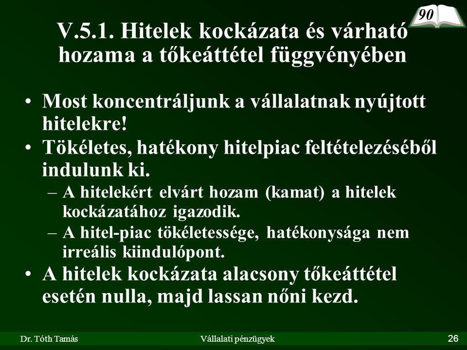 Dr. Tóth TamásVállalati pénzügyek26 V.5.1.