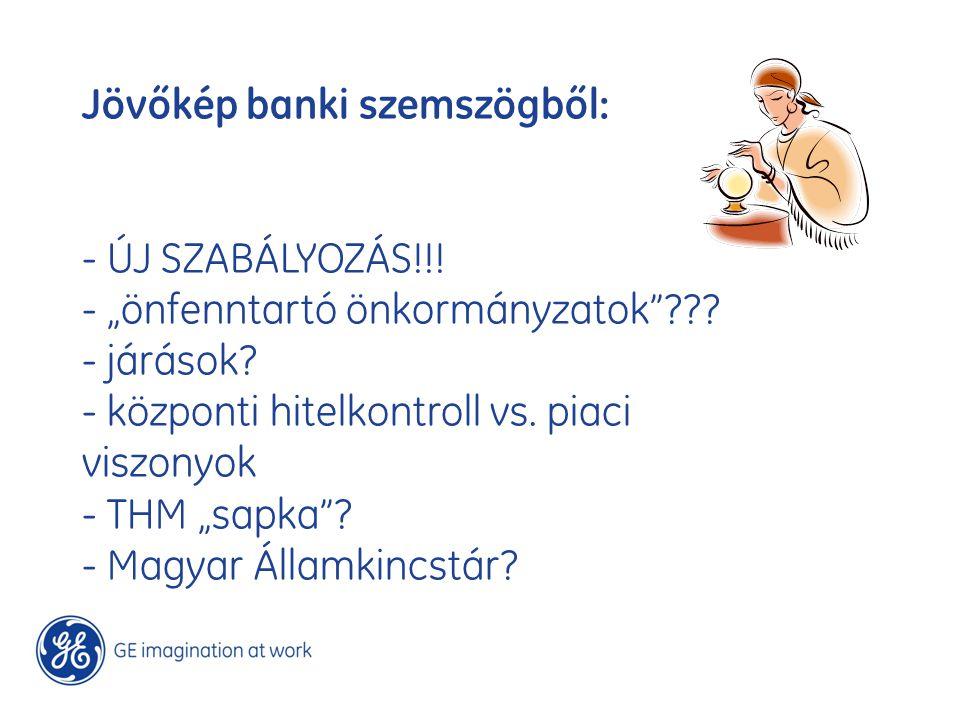 """Jövőkép banki szemszögből: - ÚJ SZABÁLYOZÁS!!! - """"önfenntartó önkormányzatok""""??? - járások? - központi hitelkontroll vs. piaci viszonyok - THM """"sapka"""""""