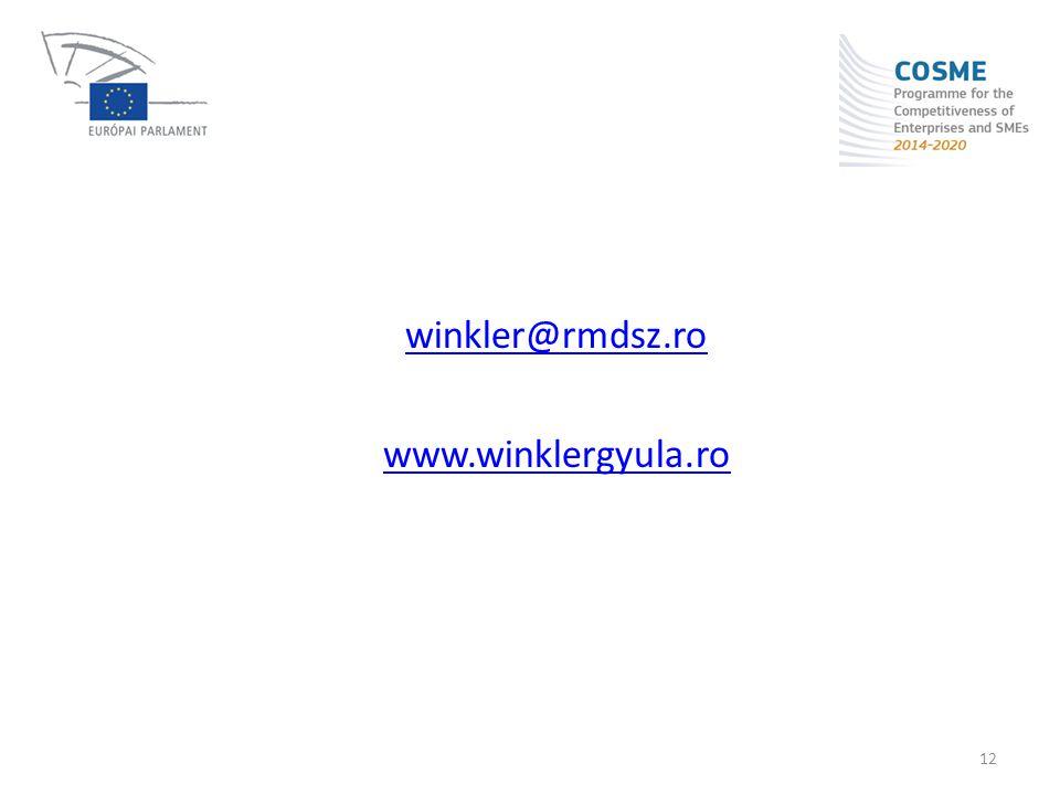 winkler@rmdsz.ro www.winklergyula.ro 12