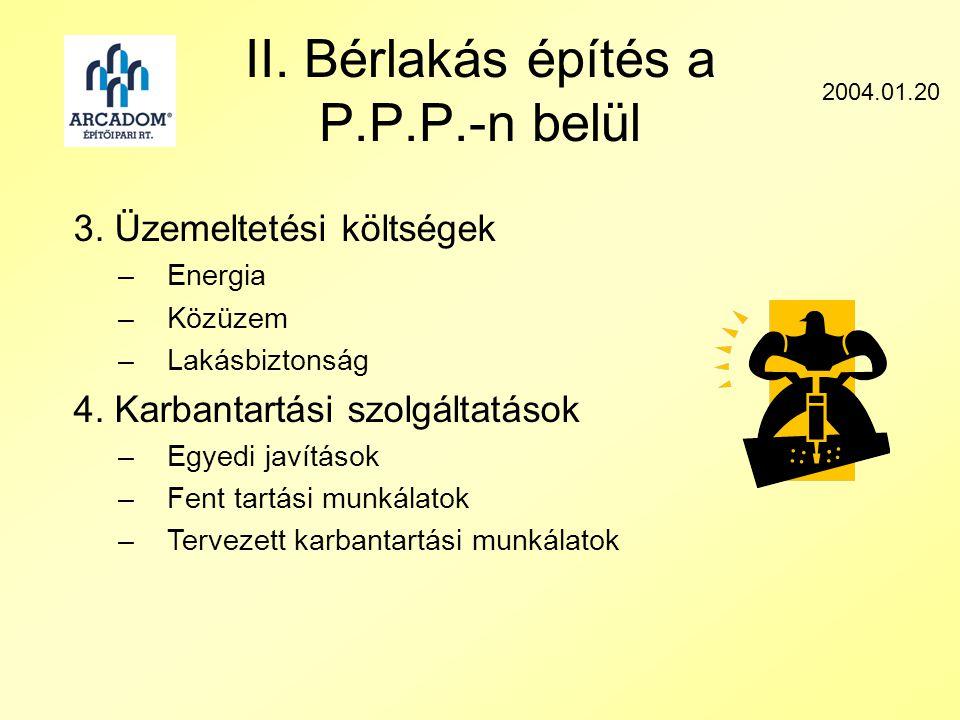 II. Bérlakás építés a P.P.P.-n belül 2004.01.20 3.