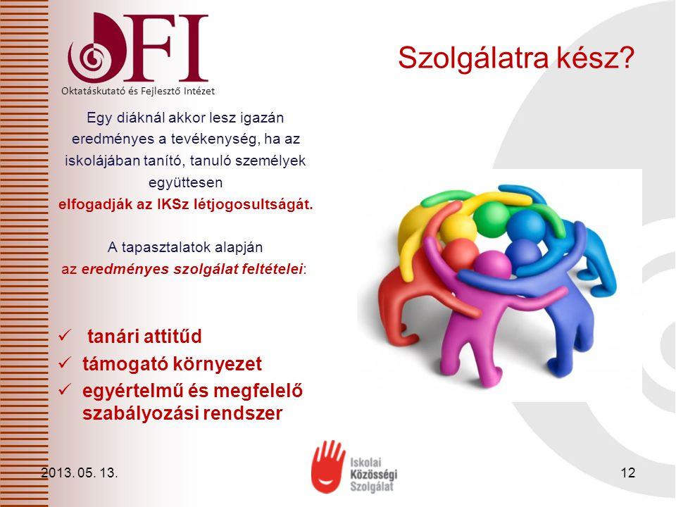 Oktatáskutató és Fejlesztő Intézet Szolgálatra kész.