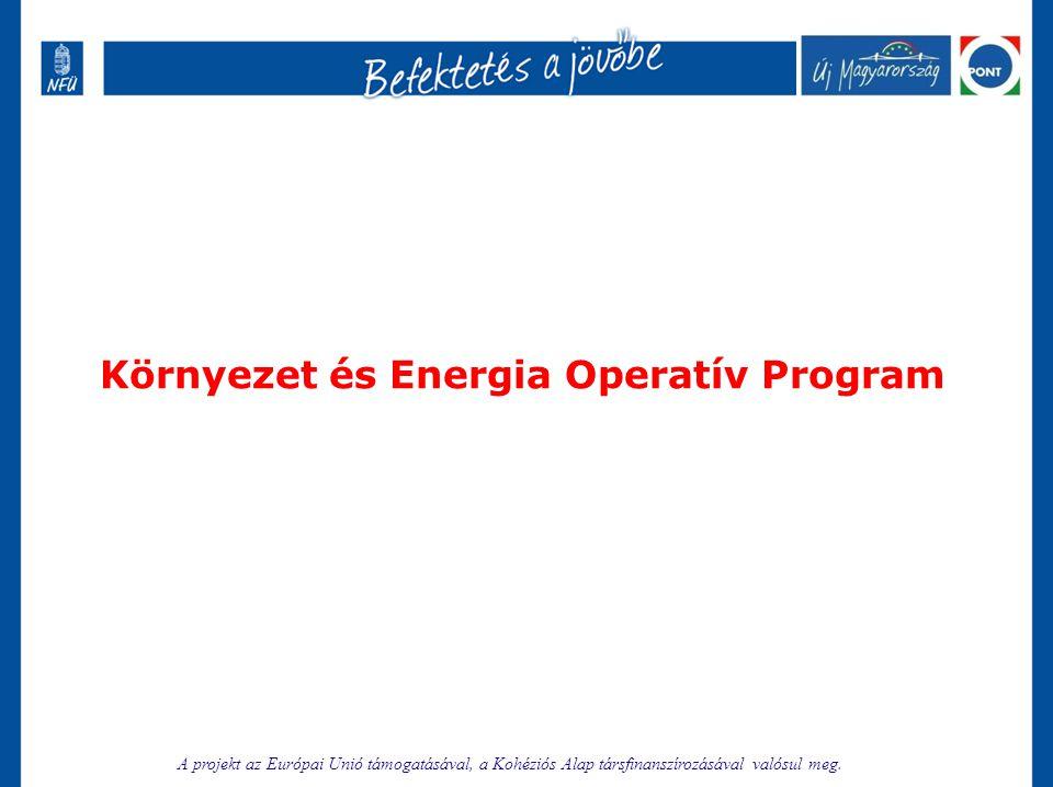 Környezet és Energia Operatív Program A projekt az Európai Unió támogatásával, a Kohéziós Alap társfinanszírozásával valósul meg.