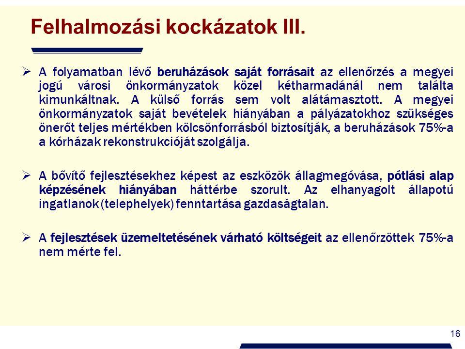 16 Felhalmozási kockázatok III.