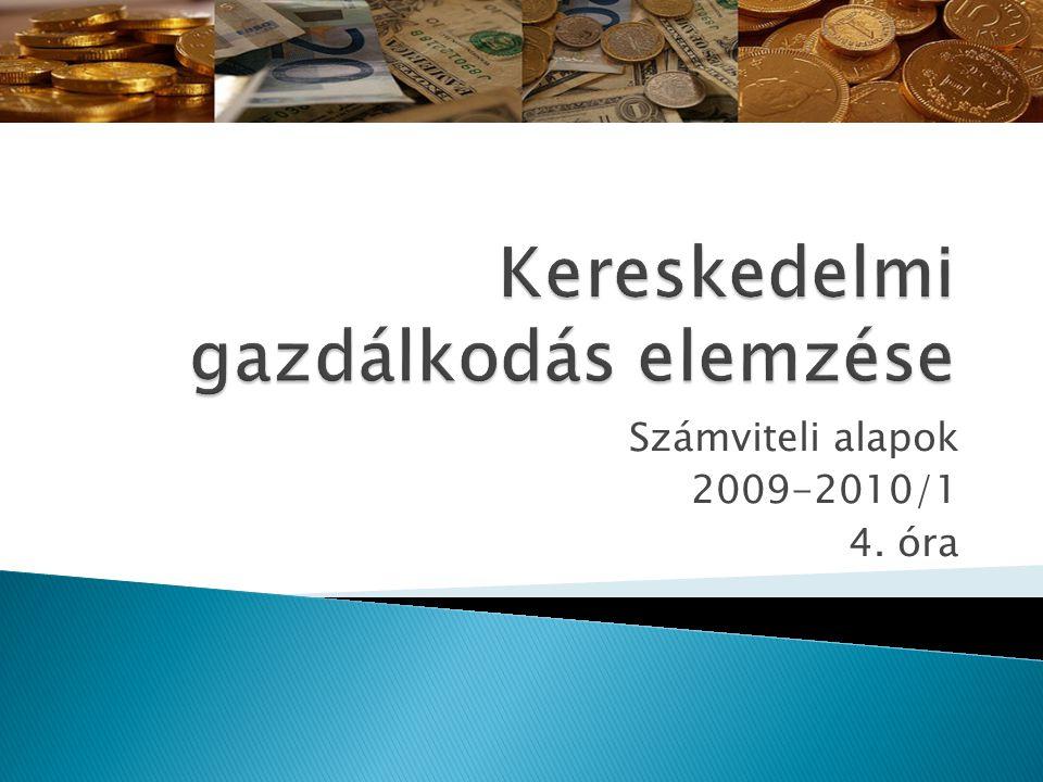 Számviteli alapok 2009-2010/1 4. óra